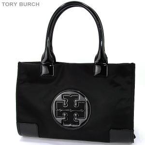 トリーバーチ TORY BURCH トートバッグ MINI ELLA TOTE 50009813 009 ナイロン ブラック/ベージュ【新品アウトレット】|pre-ma