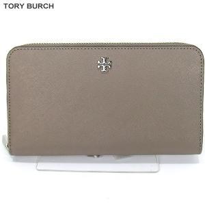 トリーバーチ TORY BURCH 長財布 ラウンドジップ  11169071 036/グレーベージュ 【アウトレット展示品特価】|pre-ma