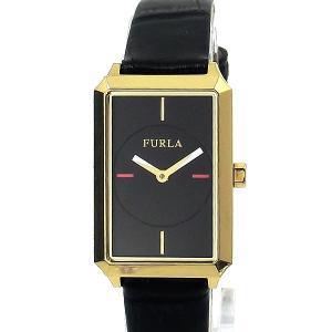 フルラ 腕時計 レディース 4251104502  FURLA DIANA スクエア レザー ゴールド/ブラック 【アウトレット】|pre-ma