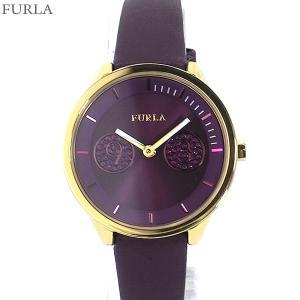 フルラ 腕時計 レディース 4251102516  FURLA METROPOLIS 31mm YG/バイオレット レザー アウトレット特価|pre-ma