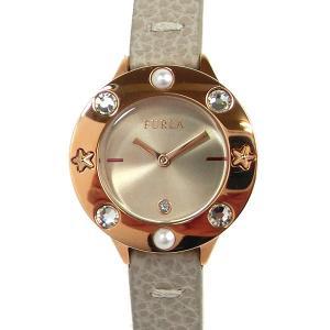 フルラ 腕時計 レディース 4251109530  FURLA CLUB 26mm PG/ベージュ レザー 替えベゼル付【新品アウトレット】|pre-ma