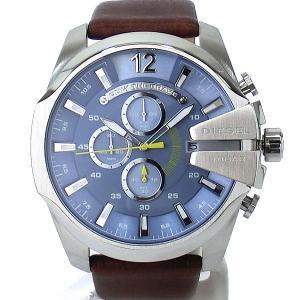 ディーゼル DIESEL メガチーフ DZ4281 メンズ腕時計 クロノグラフ ライトブルー/ブラウン 新品アウトレット|pre-ma