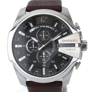 ディーゼル DIESEL メガチーフ DZ4290 メンズ腕時計 クロノグラフ グレー/ブラウン 新品アウトレット|pre-ma