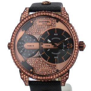 ディーゼル DIESEL 腕時計 DZ7404 デュアルタイム  MINI DADDY  ローズゴールドクリスタル/ブラック  メンズ  新品アウトレット|pre-ma