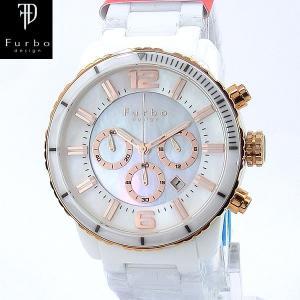 フルボ デザイン 腕時計 ソーラー FS405CPWH クロノグラフ ホワイトセラミック メンズ|pre-ma