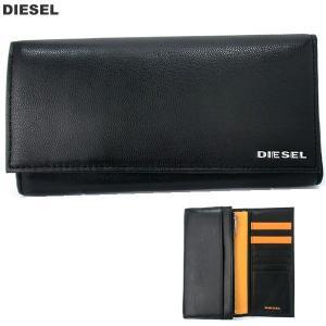 ディーゼル 長財布 長札 DIESEL X04457 PR227 H6586 ブラック/オレンジ 24 A DAY メンズ 2018SSモデル|pre-ma