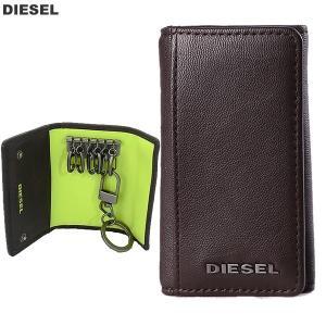 ディーゼル キーケース 6連  DIESEL X04462 PR013 H6252 ダークブラウン メンズ KEYCASE 0 新品|pre-ma