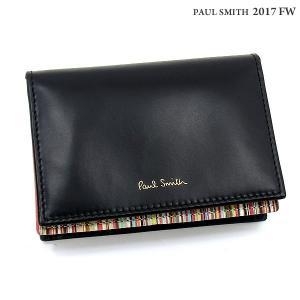 ポールスミス カードケース Paul Smith  ATPC 4776 W761 ブラック/マルチカラー メンズ 決算SSP|pre-ma