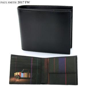 ポールスミス 財布 二つ折り Paul Smith  ATPC 4833 W718P ブラック/ミニクーパー メンズ 2017年FW新作|pre-ma