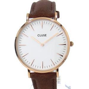 【アウトレット訳あり-S1】CLUSE クルース 腕時計 レディース 38mm CL18010 RG/ブラウンレザー  ラ・ボエーム|pre-ma
