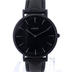 【アウトレット訳あり-B1】CLUSE クルース 腕時計 レディース 38mm CL18501 オールブラック レザー  ラ・ボエーム|pre-ma