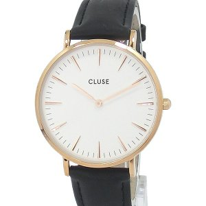 CLUSE クルース 腕時計 レディース ラ・ボエーム 38mm レザー CL18008 RG/ブラック アウトレット特価|pre-ma
