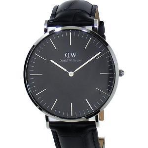 ダニエルウェリントン 腕時計 40mm DW00100135 Classic Black Reading  シルバー  メンズ アウトレット特価|pre-ma