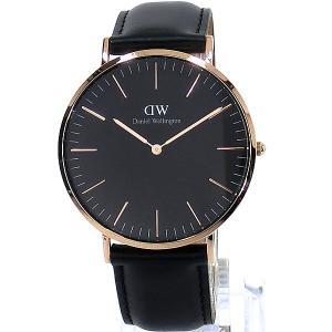 ダニエルウェリントン 腕時計 40mm DW00100127 Classic Black Shefield Rose Gold  Daniel Wellington【アウトレット-01】|pre-ma