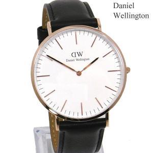ダニエルウェリントン 腕時計 40mm Classic Sheffield 0107DW レザー ローズゴールド メンズ Daniel Wellington【アウトレット-03】|pre-ma