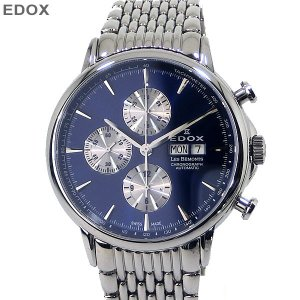 EDOX エドックス メンズ 腕時計 レ・ベモン 01120-3M-BUIN クロノグラフ 自動巻 国内未発売モデル 新品アウトレット|pre-ma