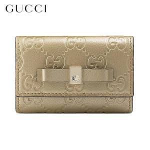 GUCCI グッチ キーケース 6連 BOWY 388682 CX01G 9504 GOLDEN BEIGE/マットゴールド GUCCISSIMA 新品|pre-ma