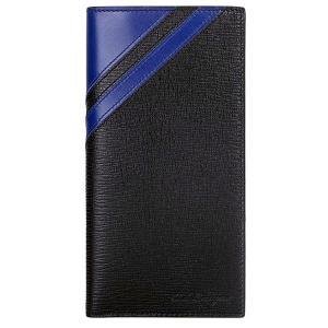 フェラガモ 財布 長財布/札入れ 660720 661354 NERO/ROYAL BLUE ブラック  新品 決算セール|pre-ma