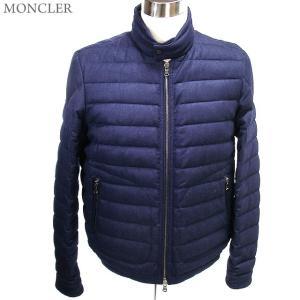 モンクレール ダウンジャケット ライトウエイト メンズ DELABOST 741/ダークブルー ウール MONCLER|pre-ma