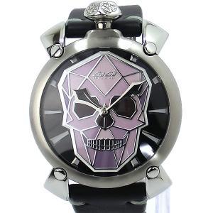ガガミラノ GaGa MILANO 腕時計 メンズ 5060.01S 手巻き式 バイオニック スカル MANUALE 48mm BIONIC SKULL|pre-ma