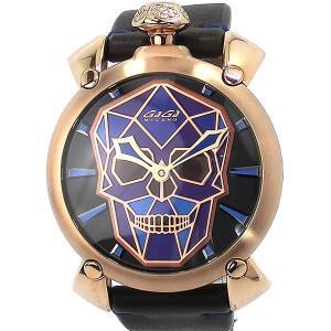 ガガミラノ GaGa MILANO 腕時計 メンズ 5061.01S ROSE GOLD 手巻き式 バイオニック スカル MANUALE 48mm BIONIC SKULL|pre-ma