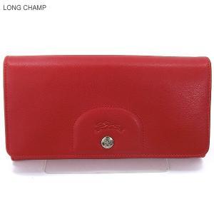 LONGCHAMP ロンシャン 長財布 二つ折り 3146 737 045  Cherry/チェリーレッド  新品|pre-ma