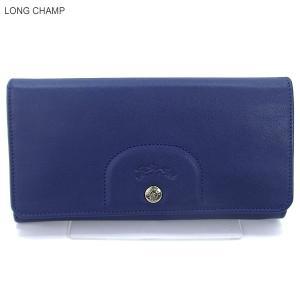 LONGCHAMP ロンシャン 長財布 二つ折り 3146 737 127  Blue/ブルー 新品|pre-ma
