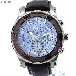 ゲス ウォッチ メンズ腕時計 GUESS W0673G1 クロノグラフ レザー 新品|pre-ma