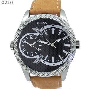ゲス ウォッチ メンズ 腕時計 W0788G2 デュアルタイム 48mm レザー GUESS WATCH 新品 決算SP|pre-ma