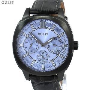 ゲス ウォッチ メンズ腕時計 GUESS W0660G2 ガンメタ/グレー レザー 新品|pre-ma