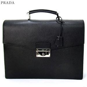 PRADA プラダ メンズ ブリーフケース/ビジネスバッグ  2VB006 053 F0002 NERO/ブラック プッシュロック 新品|pre-ma