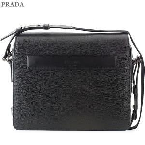 PRADA プラダ ショルダーバッグ グレインレザー 2VD004 2EYT F0002  NERO/ブラック メンズ 新品|pre-ma