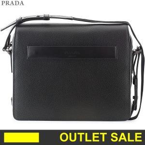 PRADA プラダ レザー ショルダーバッグ メンズ  2VD004 2EYT F0002  NERO/ブラック 展示用未使用品|pre-ma