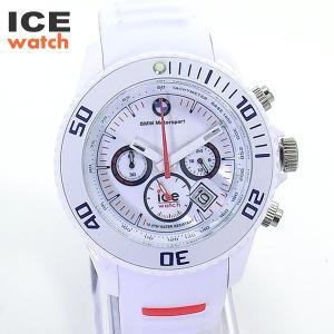 ICE WATCH x BMWモータースポーツ コラボ 43mm BIG クロノグラフ BM.CH.WE.B.S.13 ホワイト 腕時計 メンズ アイスウォッチ|pre-ma