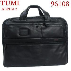 TUMI トゥミ レザー ビジネスバッグ/ブリーフケース ALPHA2 96108 D2  スリムタイプ B4 オーガナイザー・ポートフォリオ・レザー・ブリーフ|pre-ma