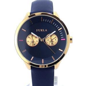 フルラ 腕時計 レディース 4251102531 38mm  FURLA METROPOLIS PG/ネイビー レザー アウトレット pre-ma