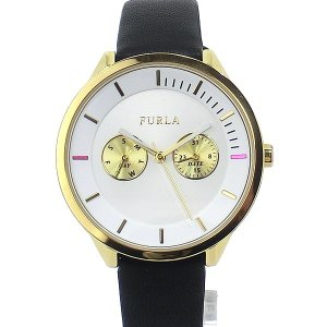 フルラ 腕時計 レディース 4251102517 38mm  FURLA METROPOLIS YG/ブラック レザー アウトレット|pre-ma