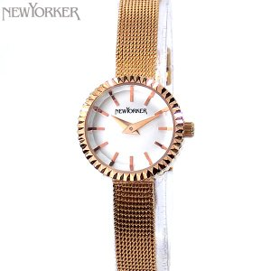 ニューヨーカー NEWYORKER 腕時計 レディース NY010.09 メッシュSS ピンクゴールド 【アウトレット】|pre-ma