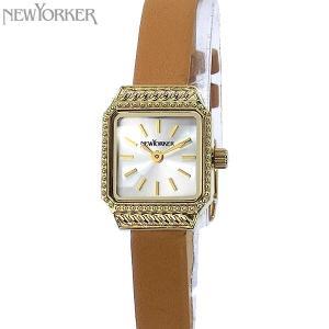 ニューヨーカー NEWYORKER 腕時計 レディース NY009.07T スクエア ライトブラウンレザー 【アウトレット】|pre-ma