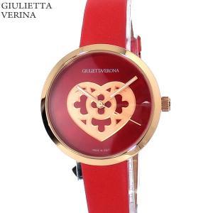 ジュリエッタヴェローナ レディース 腕時計 GV001PRDRD ピンクゴールド/レッドレザー 【アウトレット特価】|pre-ma