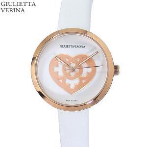 ジュリエッタヴェローナ レディース 腕時計 GV001PWHWH ピンクゴールド/ホワイトレザー 【アウトレット特価】|pre-ma