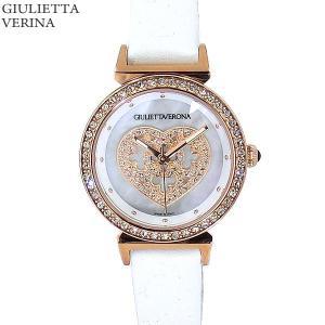 ジュリエッタヴェローナ レディース 腕時計 GV002PWHWH ピンクゴールド/ホワイトレザー 【アウトレット特価】|pre-ma