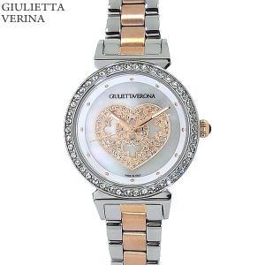 ジュリエッタヴェローナ レディース 腕時計 GV002TWH ピンクゴールド コンビ ステンレス 【アウトレット特価】|pre-ma