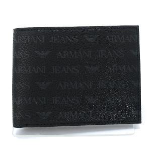 アルマーニ ジーンズ メンズ 二つ折り財布 938538-CC996-00020 NERO ブラック 【アウトレット箱不良】|pre-ma