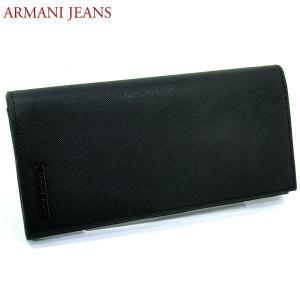 【アウトレット箱不良】アルマーニ ジーンズ メンズ 二つ折り 長財布 938543-CC991-00020 NERO ブラック pre-ma