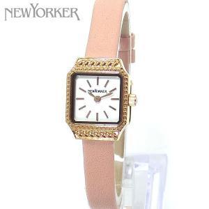 ニューヨーカー NEWYORKER 腕時計 レディース NY009.08 スクエア ピンクレザー 【アウトレット】|pre-ma