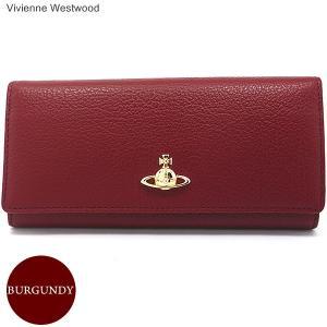 ヴィヴィアンウエストウッド  長財布 二つ折り 51120005 40212 Burgundy ブラウンレッド系 BALMORAL VIVIENNE WESTWOOD pre-ma