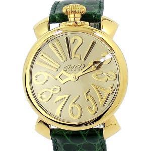 ガガミラノ GaGa MILANO 腕時計 5223.MIR.01 GREEN  MANUALE 40MM ミラー クロコレザー 世界限定500本|pre-ma
