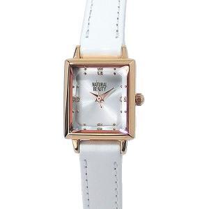 ナチュラルビューティー レディース 腕時計 NB005PSIWH レザー NATURAL BEAUTY【アウトレット特価】|pre-ma