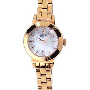 ナチュラルビューティー レディース ソーラー腕時計 NB102PWHM ピンクゴールド NATURAL BEAUTY【アウトレット特価】|pre-ma